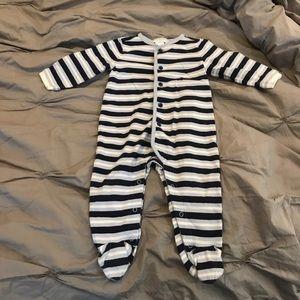 Janie & Jack stripe footie onesie